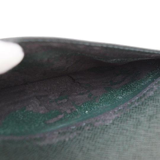 Louis Vuitton Made In France Green Clutch Image 6