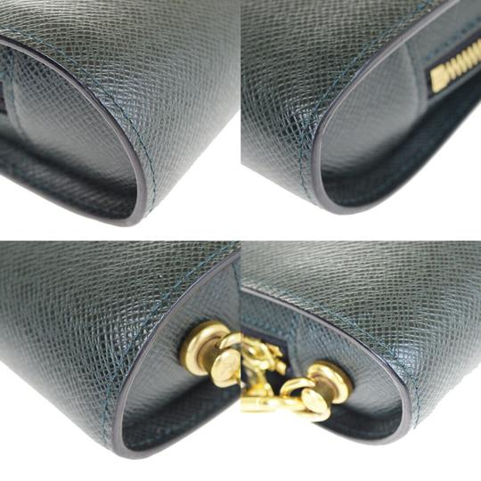 Louis Vuitton Made In France Green Clutch Image 8