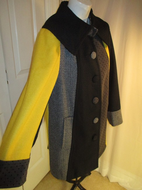 SPANNER Patchwork Full Cut A Line Onm003 Pea Coat Image 2