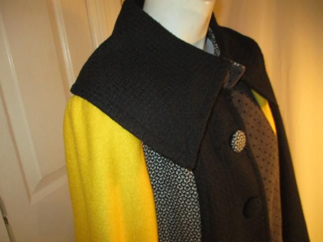 SPANNER Patchwork Full Cut A Line Onm003 Pea Coat Image 3