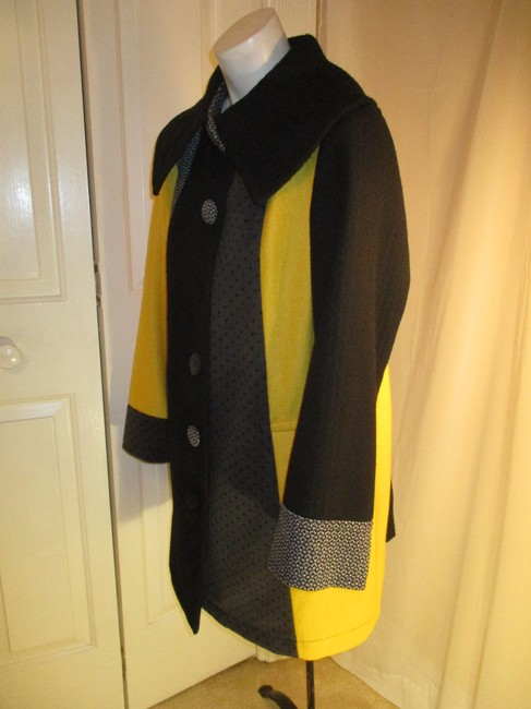 SPANNER Patchwork Full Cut A Line Onm003 Pea Coat Image 4
