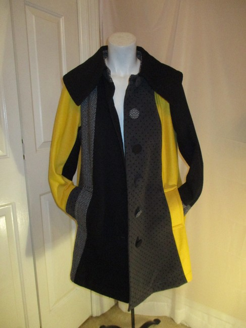 SPANNER Patchwork Full Cut A Line Onm003 Pea Coat Image 8