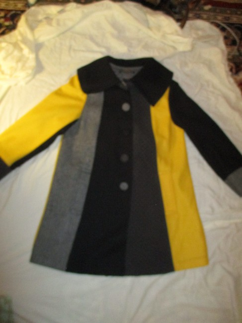 SPANNER Patchwork Full Cut A Line Onm003 Pea Coat Image 9
