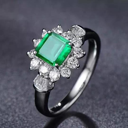 Other New Arrival Vintage 100% 925 Sterling Silver Jewelry Ring Natural Emerald Gemstone Diamond Rings for Women Image 1