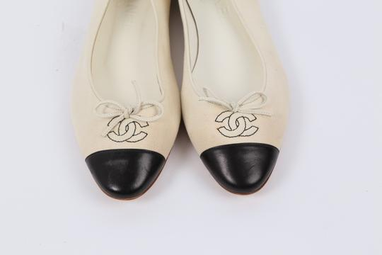 Chanel Casual White Flats Image 2