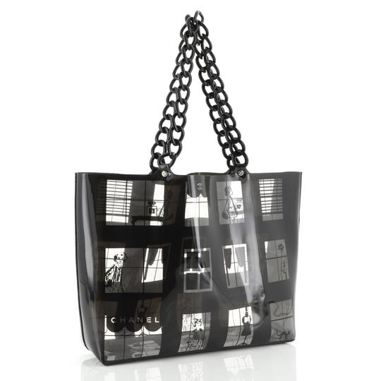 Chanel Coco Window Printed Tote in black Image 1