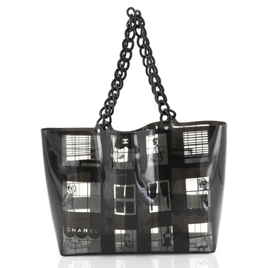 Chanel Coco Window Printed Tote in black Image 2