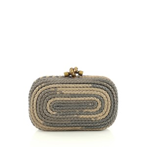 Bottega Veneta Knot neutral and gray Clutch