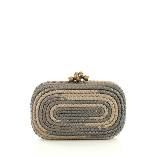 Bottega Veneta Knot neutral and gray Clutch Image 0
