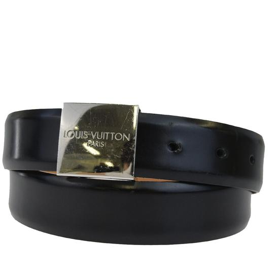 Preload https://img-static.tradesy.com/item/25825741/louis-vuitton-black-buckle-leather-silver-plated-belt-0-0-540-540.jpg