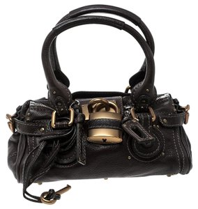 Chloé Leather Fabric Satchel in Brown