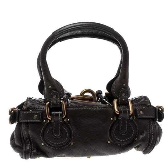 Chloé Leather Fabric Satchel in Brown Image 1