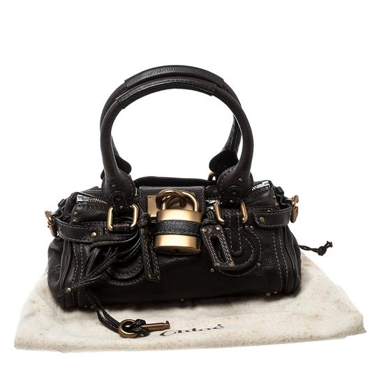 Chloé Leather Fabric Satchel in Brown Image 11