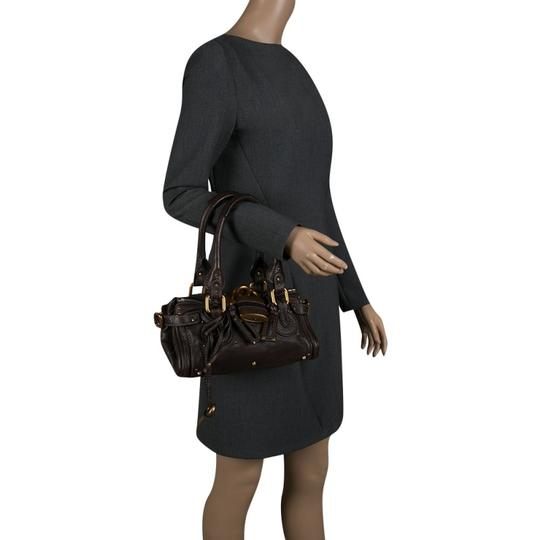 Chloé Leather Fabric Satchel in Brown Image 2