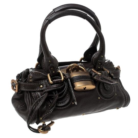 Chloé Leather Fabric Satchel in Brown Image 4