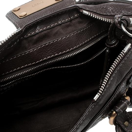 Chloé Leather Fabric Satchel in Brown Image 6