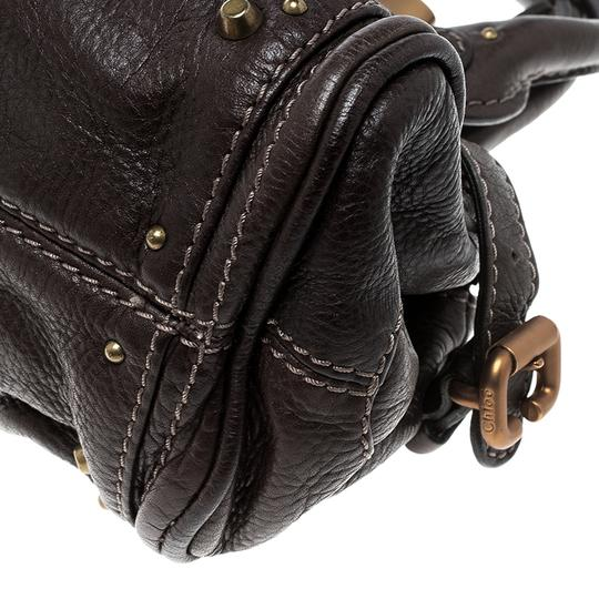 Chloé Leather Fabric Satchel in Brown Image 7