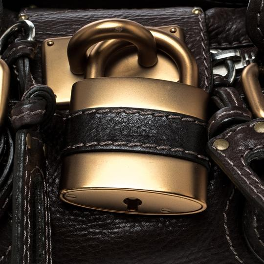 Chloé Leather Fabric Satchel in Brown Image 8