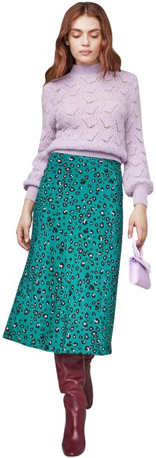 ASTR Animal Green Skirt Leopard Image 0