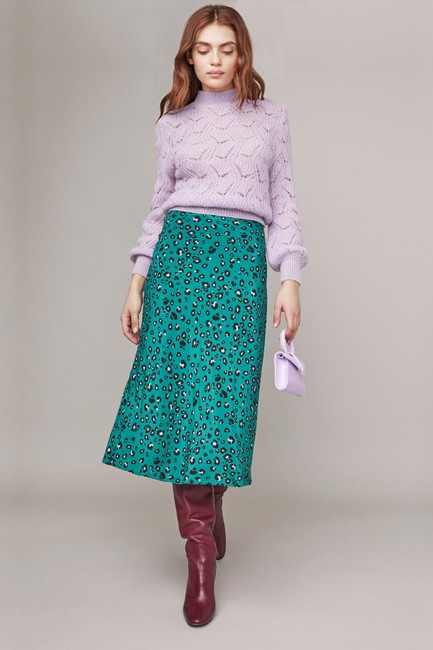 ASTR Animal Green Skirt Leopard Image 2