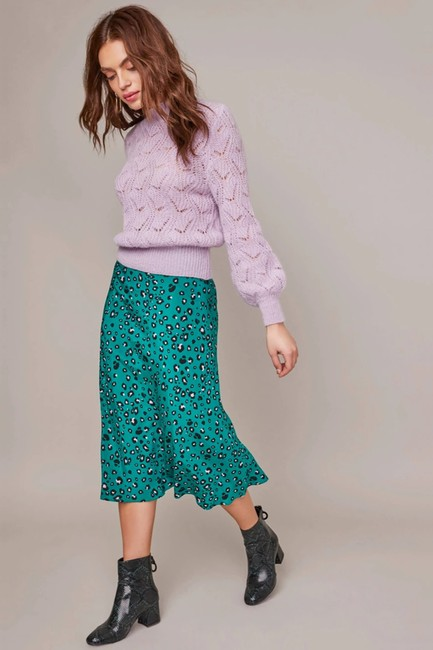 ASTR Animal Green Skirt Leopard Image 3