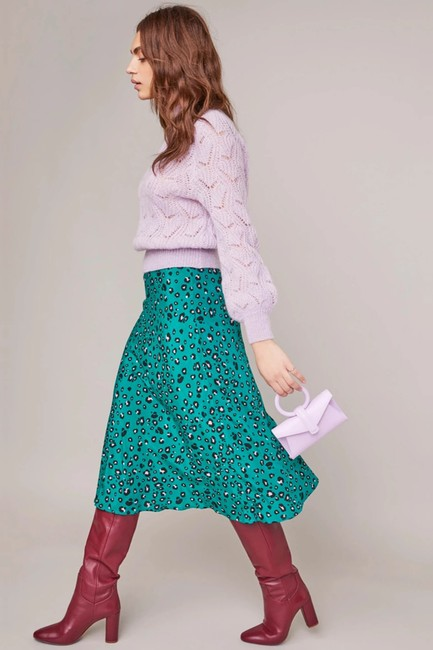 ASTR Animal Green Skirt Leopard Image 4