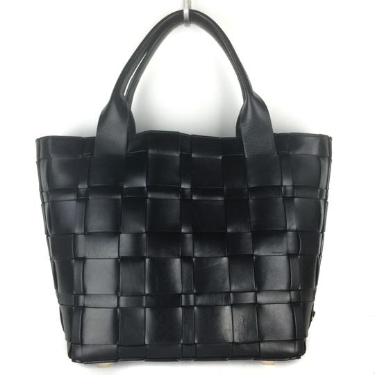 Michael Kors Woven Satchel Tote in Black Image 2
