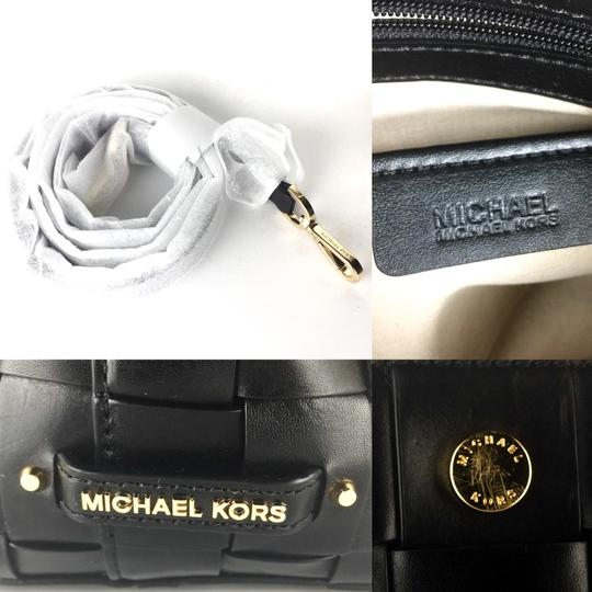 Michael Kors Woven Satchel Tote in Black Image 7