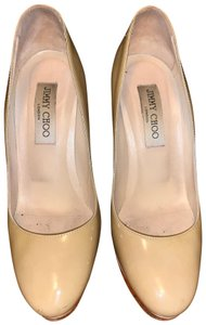 Jimmy Choo Heel Stiletto Patent Leather Ivory Pumps