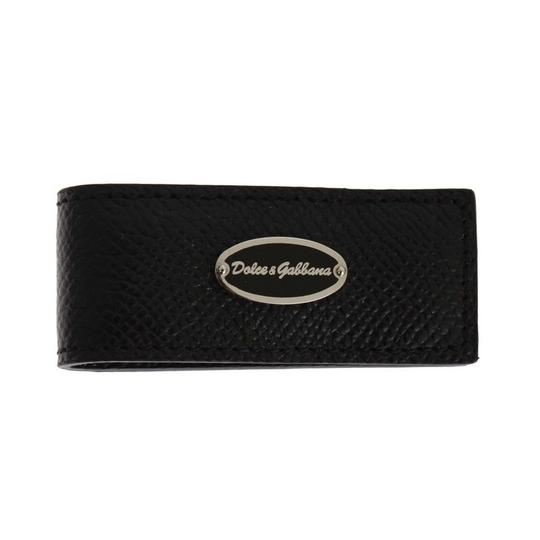 Dolce&Gabbana Black D31665 Leather Magnet Money Clip Groomsman Gift Image 1