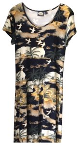 black gold yellow white Maxi Dress by Tommy Bahama