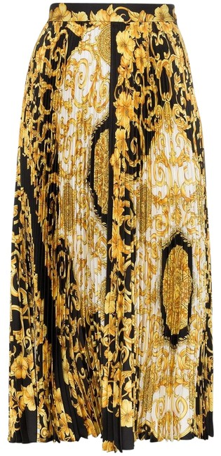 Preload https://img-static.tradesy.com/item/25826348/versace-gold-hibiscus-print-pleated-skirt-size-4-s-27-0-1-650-650.jpg