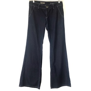 AG Adriano Goldschmied Trouser/Wide Leg Jeans-Medium Wash