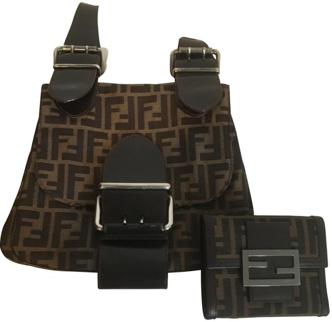 Item - Zucca and Wallet Brown Patent Leather Shoulder Bag