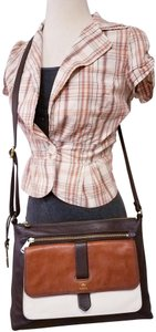 Fossil Super Cute Shoulder Leather Satchel in multicolors