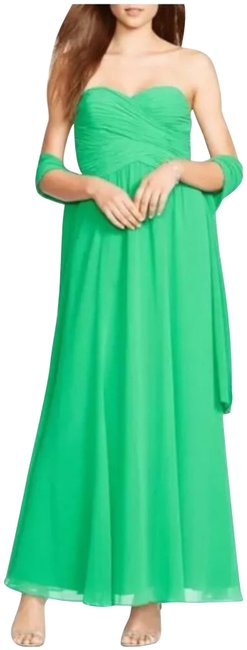 Item - Green Gown Strapless Long Cocktail Dress Size 4 (S)