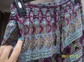 Vanilla Star Aztec Pockets Drawstring Colorful Boho Relaxed Pants MultiColor Image 1