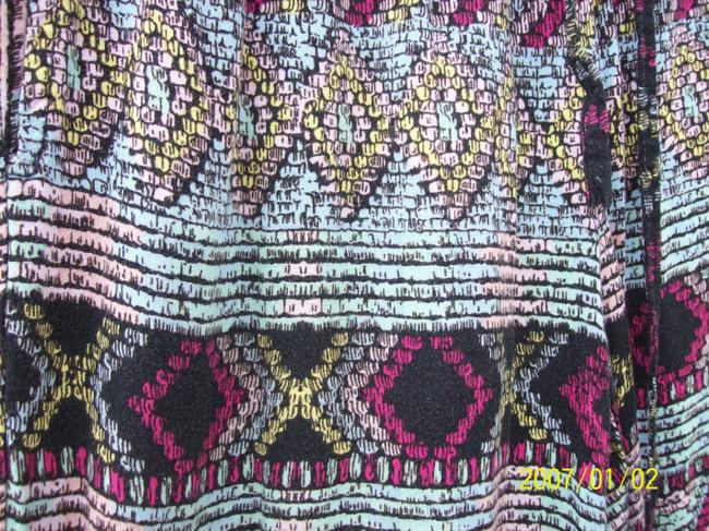Vanilla Star Aztec Pockets Drawstring Colorful Boho Relaxed Pants MultiColor Image 2
