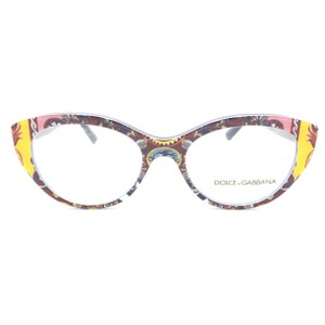 Dolce&Gabbana Dolce and Gabbana Cat Eye Blue Multicolor DG3246 Rx Eyeglasses