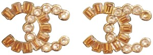 Chanel CHANEL BRAND NEW CONDITION Baguette Crystal CC Earrings Silver