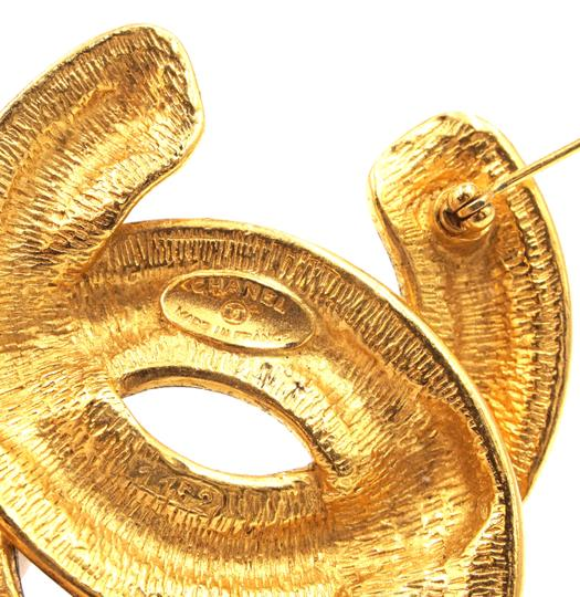 Chanel Extra Large Jumbo CC quilted gold hardware brooch pin charm Image 3