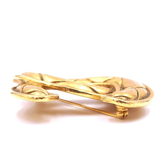 Chanel Extra Large Jumbo CC quilted gold hardware brooch pin charm Image 5