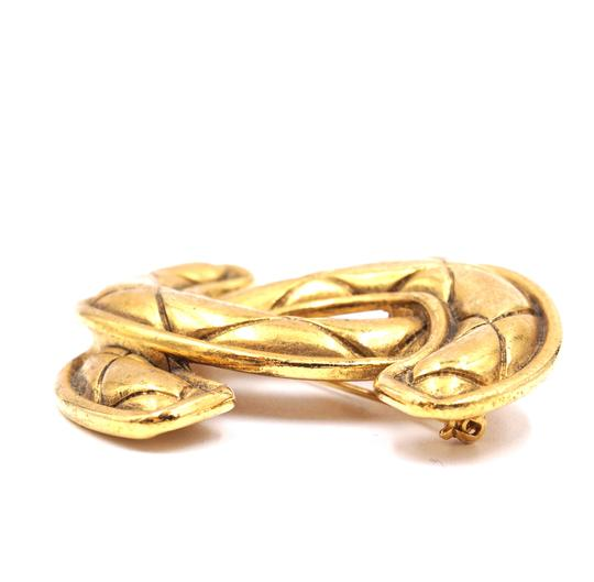 Chanel Extra Large Jumbo CC quilted gold hardware brooch pin charm Image 6