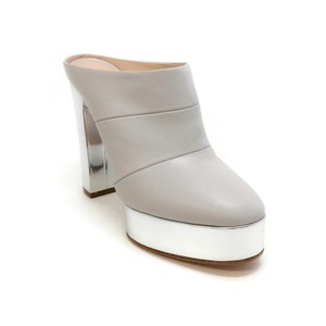 Casadei Light Grey / Silver Mules