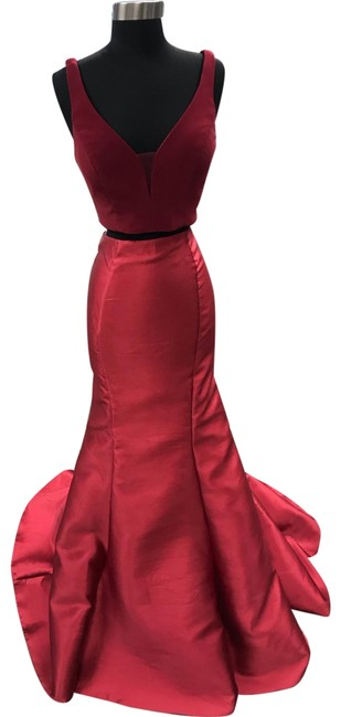 Item - Claret 2 Piece Mermaid Long Formal Dress Size 6 (S)