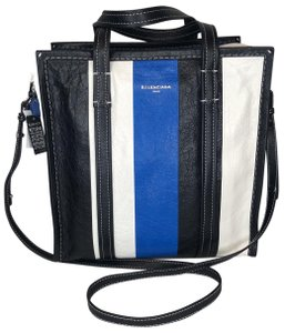 Balenciaga Tote in Black, Blue, White