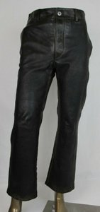Prada Brown Men's Leather Pants Button Closure Eu 46 / Us 30 Upp184 Groomsman Gift