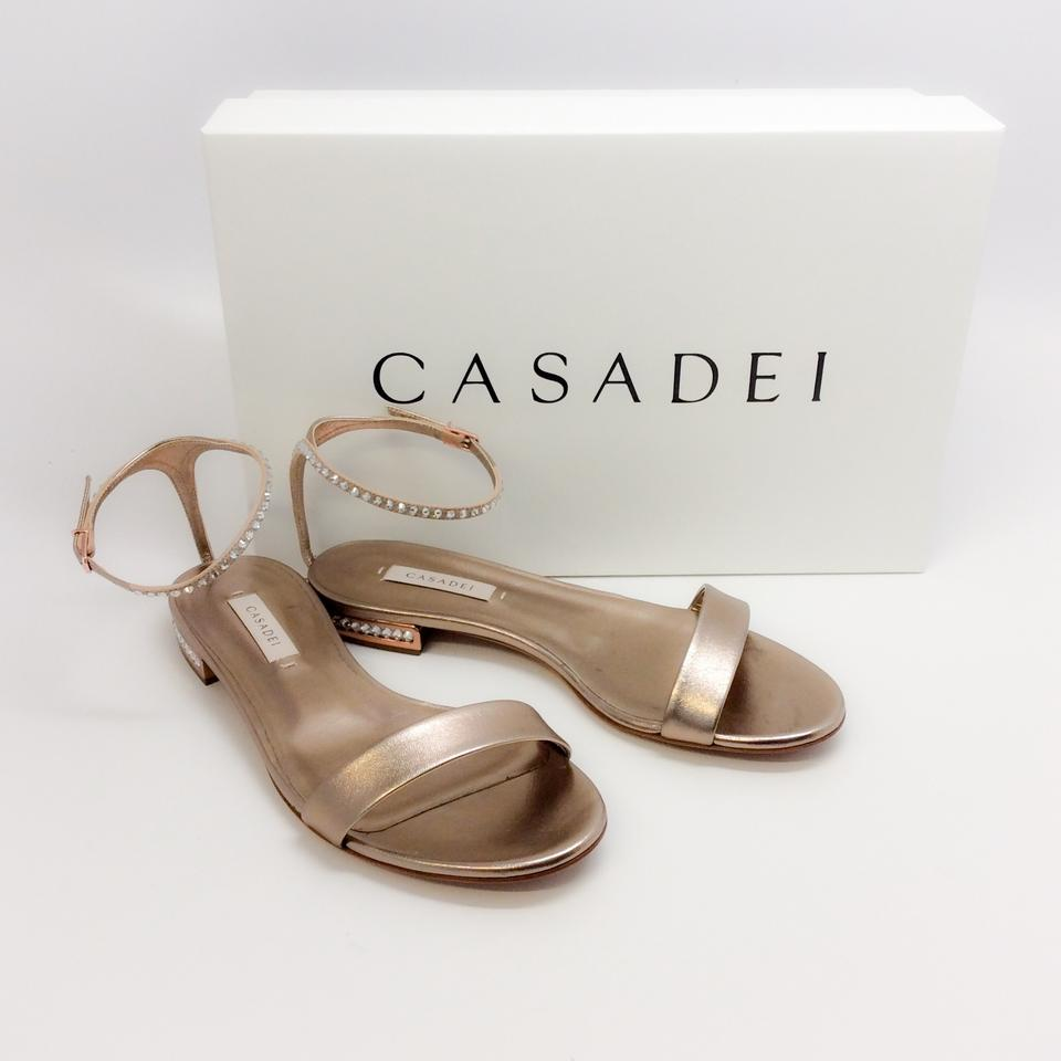 Casadei multicolord with gold metal 36 EU size (USA 6 6 6