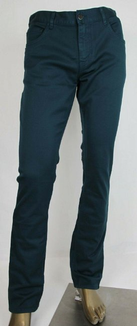 Item - Green Cotton Drill T.c. Tapered Fit Pants Zipper Closure Us 36 Gep178 Groomsman Gift