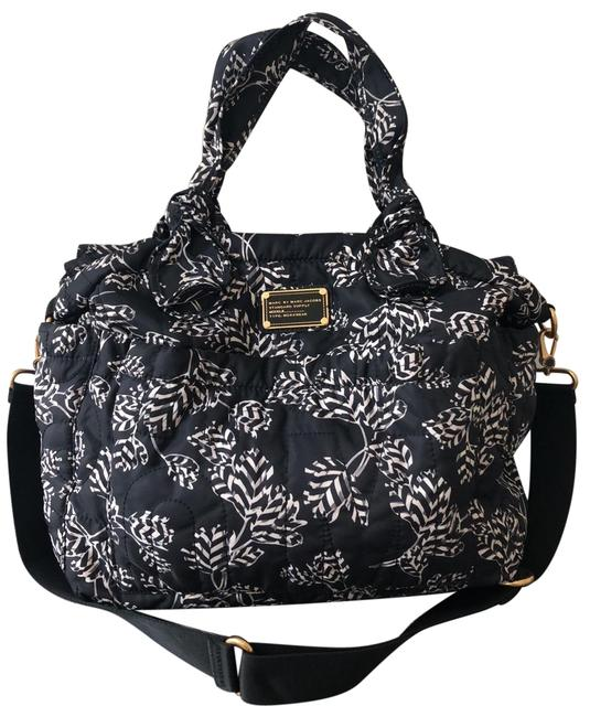 Item - Eliz-a-baby Black with Grey and Off-white Print Nylon Diaper Bag